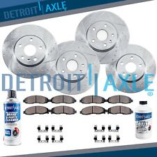 Front & Rear DRILLED Rotor + Ceramic Pad Kit - Ford Explorer Flex Taurus MKT