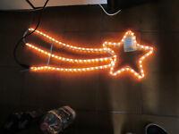 Lumières Noël Empreinte Cruciforme Comète Lumineux LED Blanc 80 X 30 CM