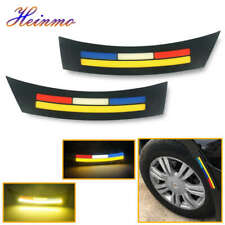 2 x Car Wheel Eyebrow Side Marker Light Turn Signal Indicator LED Fog Lamp 12V
