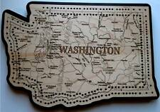 Washington State Shape Road Map Cribbage Board