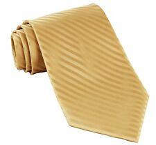 New Polyester Woven Men's necktie wedding formal tone on tone stripes gold