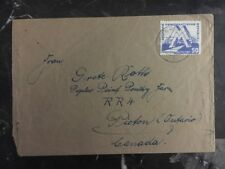1951 Annaberg-Buchholz East Germany DDR Cover To Picton Canada