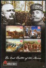 Mustique Gren St Vincent 2015 MNH WWI WW1 2nd Battle Marne 4v M/S War Stamps
