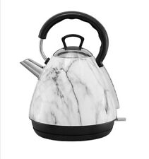 New 1.7 L White Marble Electric Cordless Kettle Kitchen Fast Boil Home Office ❤️