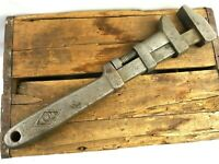 """Vintage Railroad Special W & B Large 18"""" Adjustable Monkey Wrench USA Made"""