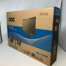 "AOC E2270SWHN 21.5"" Full HD 1920x1080 Monitor 5ms HDMI VGA VESA EPEAT Black NEW"