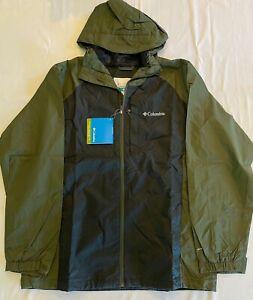 Columbia Men's Straight Line Rain Jacket Black Size L