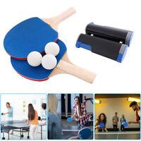 Instant Mesa Tenis Juego Ping Pong & Retráctil Red 2 Murciélagos Portátil 3