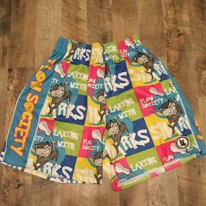 Flow Society Lacrosse Shorts Shark Adult Size M Medium No Drawstring