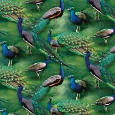 PEACOCKS PAGEANT OF COLOUR FABRIC