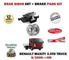 FOR RENAULT MAXITY 3.0 DT TRUCK RWD 2006--> NEW REAR BRAKE DISCS SET + PADS KIT