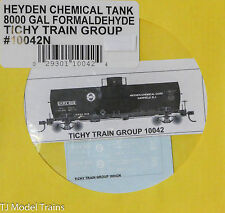 Tichy Train Group Decal #10042N Heyden Chemical Tank 8000 Gal Formaldehyde