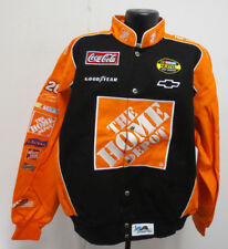 THE HOME DEPOT LARGE REVERSIBLE JACKET CAMOUFLAGE CAMO COTTON TWILL NASCAR NEW