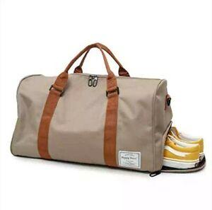 Men & Women Lightweight Canvas Travel Duffel Sport Bag, Large Holdall Waterproof