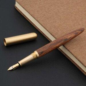brass Tiger skin Brown sandal wood shell luxurious golden Writing Fountain Pen