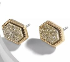 Gold Drusy Studs Earrings  Kendra + Chloe  Design by Isabel J. Scott