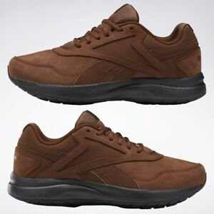Reebok Walk Ultra 7 DMX MAX Men's Sneakers Shoes X-WIDE 4E Brown/Black Brand New