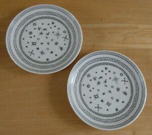 "Royal Doulton Ellen Degeneres 6.25"" Charcoal Grey Side Plates x 2 (A) (BNWOT)"