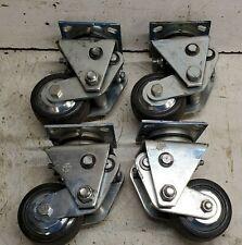 Set Of 4 Darcor Sl404 Spring Loaded 4 Swivel Casters Wheels 900 Lbs
