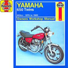 [0341] Gemelos Yamaha de 650 XS650 XS650SE Edición Especial 1970-1983 Taller Haynes