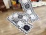 White long rectangle,cat/kitten face,carpet yoga door/floor mat,rug,50x120cm