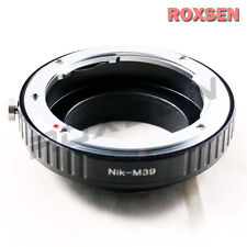 Nikon F mount AI AI-S manual lens to Leica M39 Mount L39 LTM screw Adapter