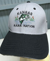 59da7697c3948 Kansas B.A.S.S. Bass Fishing Nation 2015 Team Adjustable Baseball Cap Hat