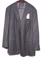 Samuelsohn SB Greenwich Wool Blazer Jacket Blue/Blk/Grey Sz 56 Long NWT $1695