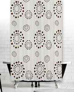 Beautiful Fabric Shower Curtain Extra Long and Wide in Three Sizes, Weighted Hem