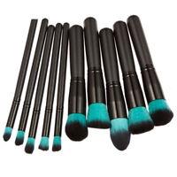 NEW 10pcs Professional Make up Brush Set Foundation Blusher Face Powder Brushes