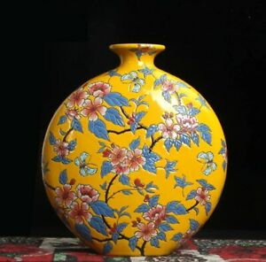 Big Handmade Vase Ceramic Hand painted Porcelain Chinese Antique Reproduction