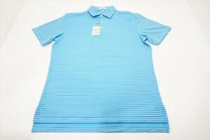Peter Millar Crafty Performance Jersey Polo Mens Medium Beta Blue 606A 920650