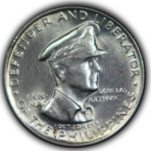 1947 Philippines Republic Fifty 50 Centavos Cents, High Grade BU