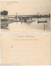 CPA Dugas Nantes postcard bateaux rivière la Loire Vue du Pont ANCENIS [416 A]