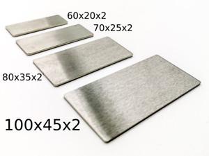 Briefkastenschild - Türschild, Klingelschild, Namensschild, 2mm Edelstahl