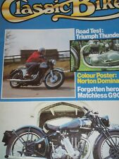 Classic Bike 06/79 Triumph Thunderbird Test, Norton Inter, Matchless G90 etc