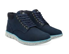 New Mens Timberland Bradstreet Chukka Leather Boots Navy Size UK 7.5 EUR 41.5