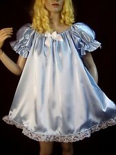 ADULT SISSY BABY SATIN BABY DOLL STYLE PARTY PAGEANT DRESS / NIGHT GOWN