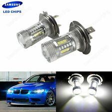2 Ampoule Lampe H7  LED 15 SMD Feu Brouillard phare de voiture Blanc DRL