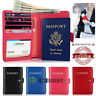 Travel Passport Holder Case Cover Wallet Luxury Leather RFID Blocking Card Pouch