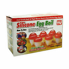 Egg Cooker Silicone Egg Boiler Seen on Cup Non-Stick TV 6PCS