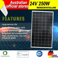 250w 24v Solar Panel Kit House Caravan Camping Power Battery Mono Charging Boat