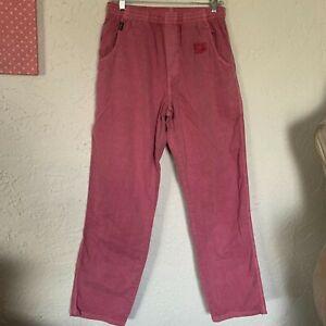 CRAZY SHIRTS TWILL PANTS Cranberry Dyed sz S NWT