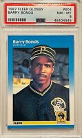 BARRY BONDS 1987 FLEER GLOSSY CARD #604 PSA GRADED PITTSBURGH PIRATES SF GIANTS