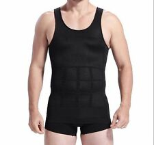 Men's Slimming Body Shaper Tummy Fatty Underwear Vest T Shirt Corset Shapewear