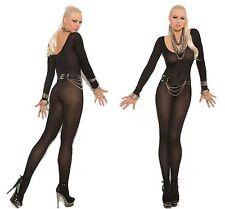 LADIES Sexy Lingerie ELEGANT MOMENTS LONG SLEEVE OPAQUE BODYSTOCKING BLACK 8-14