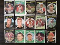 ⚾️1959 Topps Baseball Cincinnati Red Legs Lot Of 15 Frank Robinson⚾️