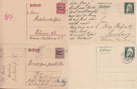 Bayern 4 versch. Ganzsachen 1911 / 1919 / 1920, alle gest., GA Altdeutschland