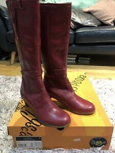 Dr Martens Red High Leg Boot £95 New Size 6
