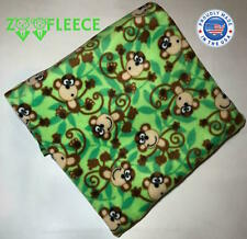 "ZooFleece Monkey Green Primate Baboon Mammal Animal Cute Funny 50X60"" Blanket"